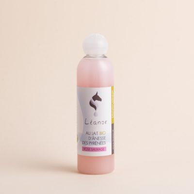 Gel douche au lait bio d'ânesse parfum Rose Sauvage
